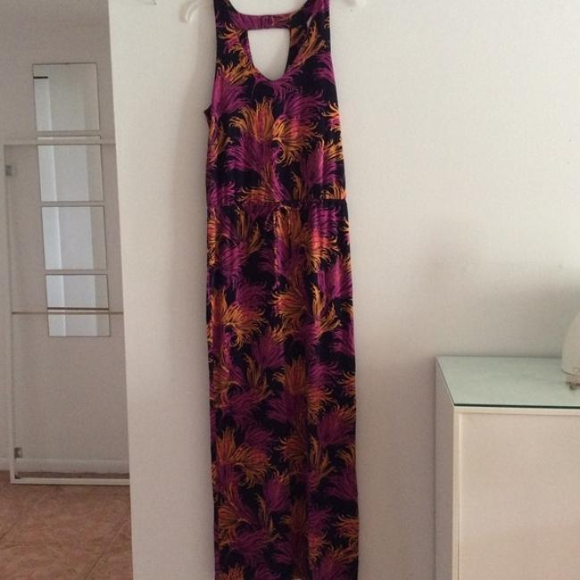 Navy Blue / Fuchsia / Mandarin Orange Maxi Dress by Banana Republic New With Tags
