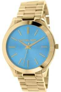 Michael Kors Michael Kors Women's Slim Runway Gold-Tone Stainless Steel Bracelet Watch 42mm MK3265