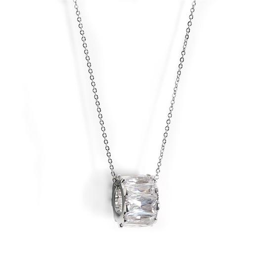 Preload https://img-static.tradesy.com/item/3479212/mariell-silver-designer-floating-band-pendant-with-cz-baguettes-4267n-necklace-0-0-540-540.jpg