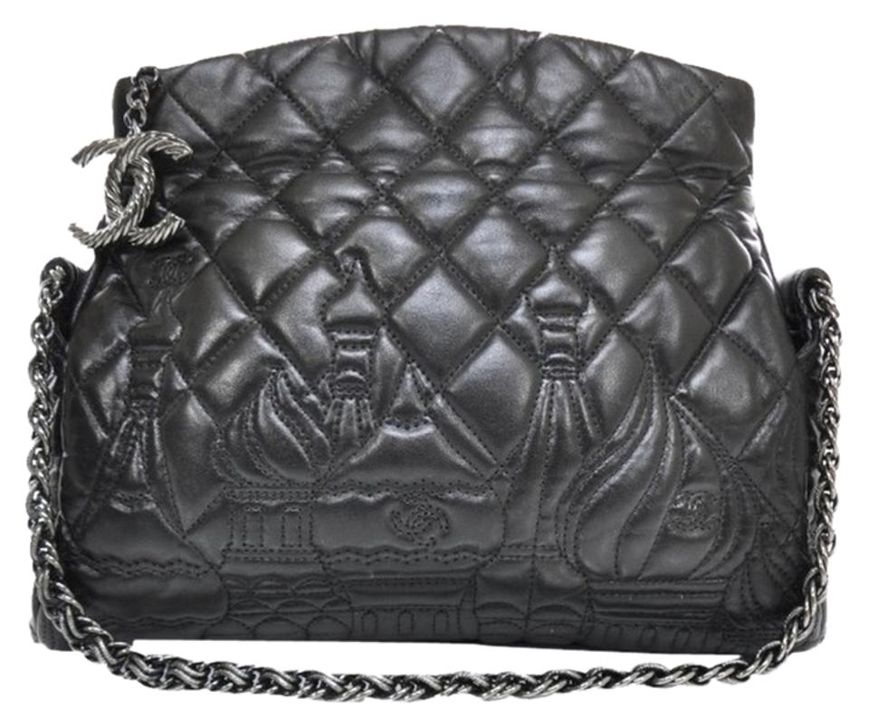 92e43735f8eb89 Chanel Bag Moscow Exclusive Ltd Edition Black Leather Tote - Tradesy