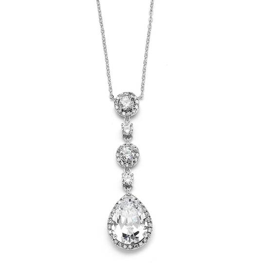 Preload https://item4.tradesy.com/images/mariell-silver-best-selling-pear-shaped-drop-with-pave-cz-400n-necklace-3479263-0-0.jpg?width=440&height=440