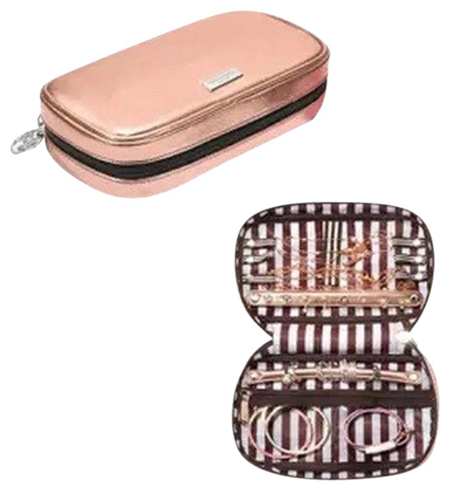 Henri Bendel Henri Bendel Metallic Cosmetic Makeup Travel Jewelry Case Bag  ... 0997ced98d763