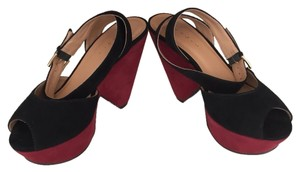 Sandro Black And Burgundy Platforms