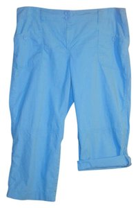 Liz & Co. Capris Bright aqua blue