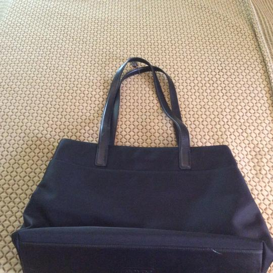 Coach Vintage Leather Accents Tote in Black