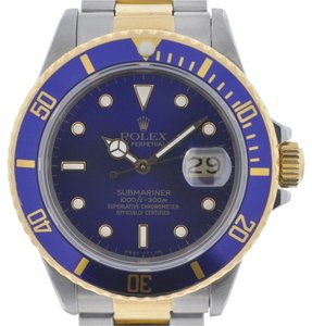 Rolex Rolex 16803 Two Tone Submariner Blue Dial and Bezel 18kt Yellow Gold Watch