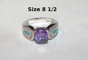Multi Colored Bogo Free Amethyst Opal Free Shipping Ring