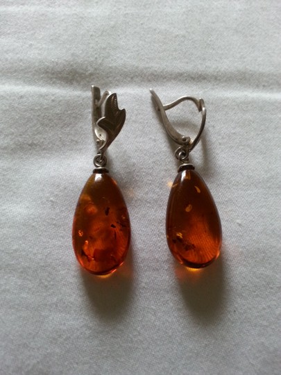 nature baltik amber earrings ,, Baltik Amber in silver 925