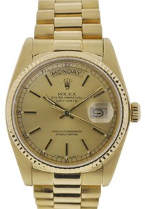 Rolex Rolex 18038 Single Quick President Day-Date Yellow Gold Men's Watch