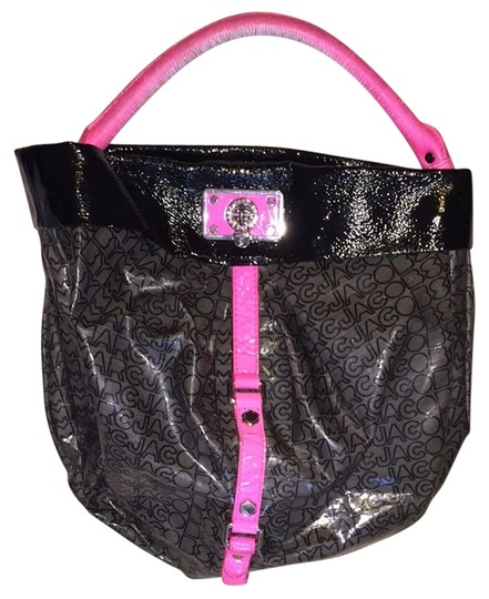 Preload https://item4.tradesy.com/images/marc-jacobs-black-grey-and-pink-vinyl-tote-3481498-0-0.jpg?width=440&height=440