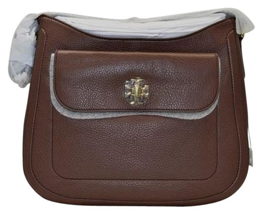 Tory Burch Leather Gold Hardware Classic Hobo Bag