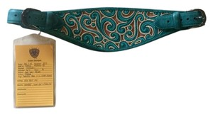 Ariat Ariat Teal Embroidered Brocade Belt