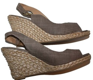 Diba Shoe Wedge Straw Taupe/Linen Wedges