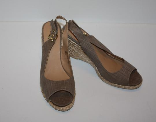 Diba Straw Taupe/Linen Wedges