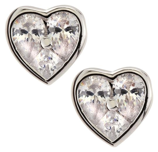 Kenneth Jay Lane CZ by Kenneth Jay Lane Cubic Zirconia Heart-Stud Earrings