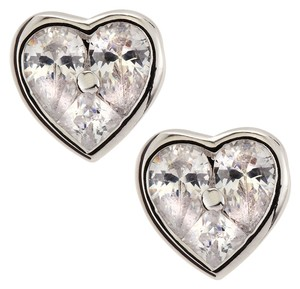 Kenneth Jay Lane Kenneth Jay Lane Cubic Zirconia Heart Shaped Stud Earrings