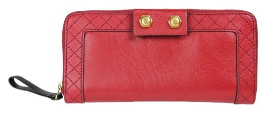 Marc by Marc Jacobs Leather Gold Hardware Red Clutch