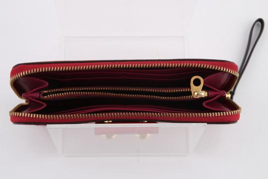 Marc by Marc Jacobs Leather Gold Hardware Wristlet in Red