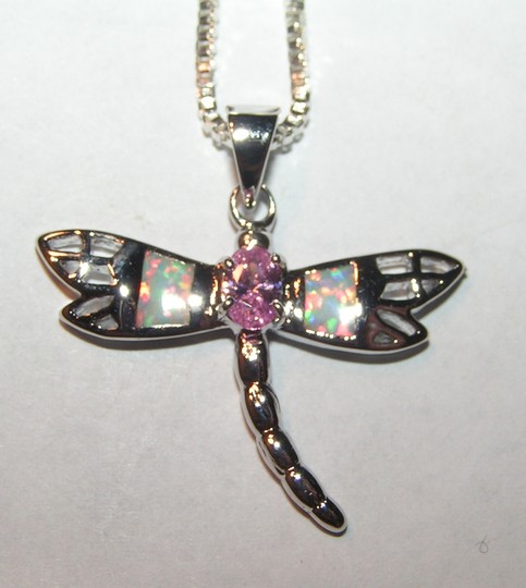 Bogo Free Dragonfly Opal Necklace Free Shipping