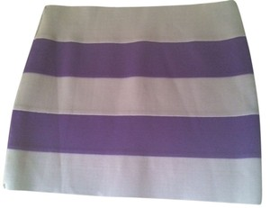 Rampage Mini Mini Stripes Mini Skirt grey and purple