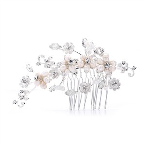 Fresh Water Pearls & Crystals Bridal Comb