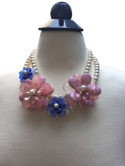 Anthropologie Pearl and Flower Necklace