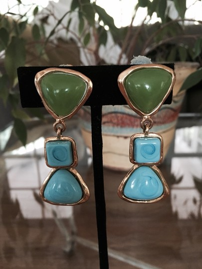 Chanel Authentic Chanel Turquoise Earrings