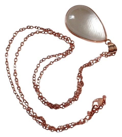 Vince Camuto Natural Stone Rose Gold Chain Necklace