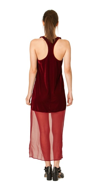 Burgandy Maxi Dress by Line & Dot