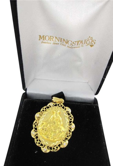 Preload https://item5.tradesy.com/images/yellow-gold-18kt-pendant-mary-and-child-locket-charm-white-stones-christian-church-necklace-348299-0-0.jpg?width=440&height=440