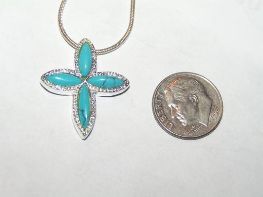 Turquoise Bogo Free Cross Free Shippibg Necklace