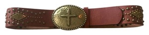 Ariat Ariat Brass Cross Stud Leather Belt