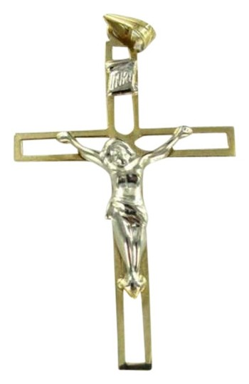 Preload https://item4.tradesy.com/images/yellow-gold-14kt-pendant-charm-crucifix-cross-04dwt-christian-jesus-religious-necklace-348313-0-0.jpg?width=440&height=440