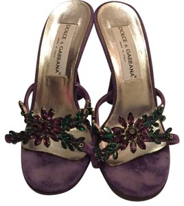 Dolce&Gabbana Purple Green Pumps