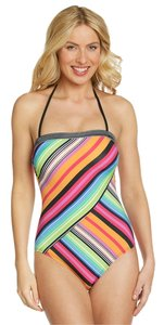 Kenneth Cole Size: MEDIUM Vibrant One-Piece Bandeau Halter-Style Swimsuit