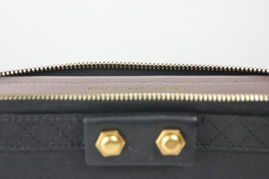 Marc by Marc Jacobs Leather Gold Hardware Evening Black Clutch