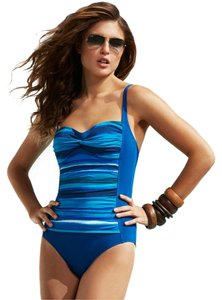 "Bleu Rod Beattie Size: 8 ""Sunset Over The Sahara"" Retro Cup OnePiece Swimsuit"