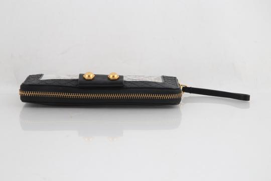 Marc by Marc Jacobs Leather Animal Print Black Clutch