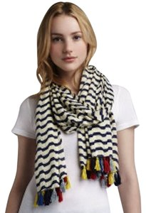 Michael Stars Stripe and Tassel Scarf
