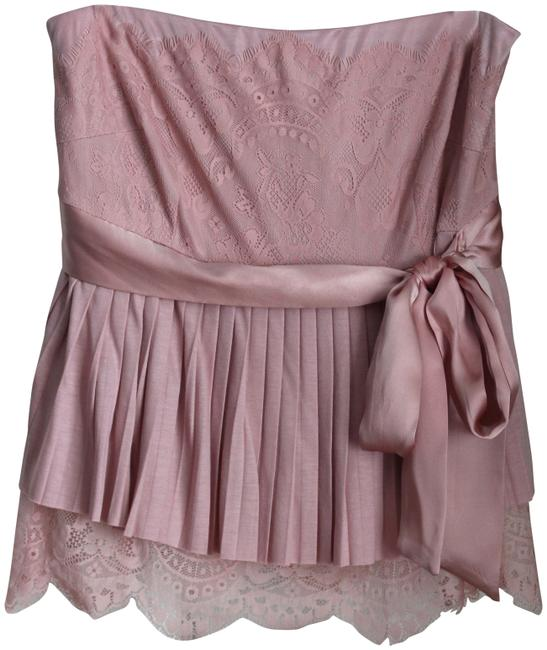 Item - Lacey Strapless Pink Top