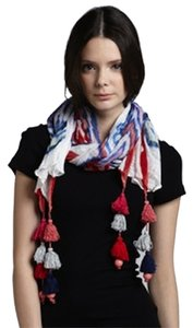 Michael Stars Colorful Tassel Scarf
