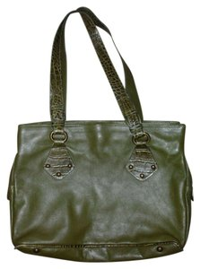 I Santi Satchel in Dark Olive Green