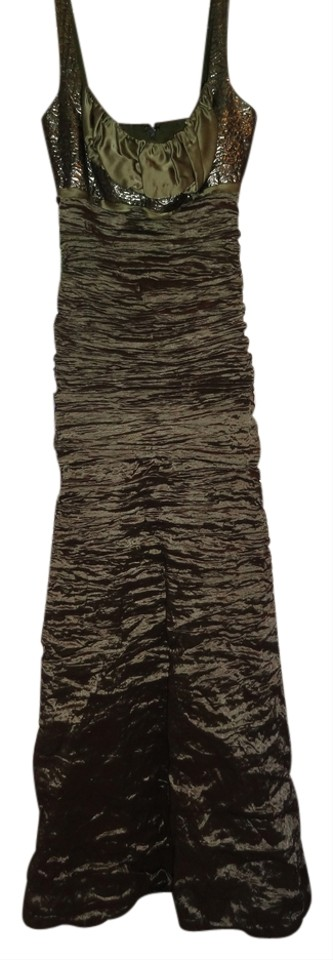 Nicole Miller Olive Green Collection Long Formal Dress Size 2 (XS ...