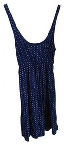 Aerie short dress Dark Blue with White and Light Blue Circles Teen Wear 60% Cotton on Tradesy