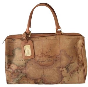 Alviero Martini Prima Classe Excellent Condition Satchel in Map