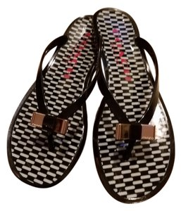 Coach Thong Jellies Flipflops Flip Flops Bow Flip Flops Bow Black Sandals