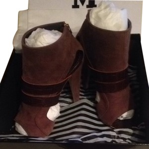 Missoni Brown Leather And Suede Boots