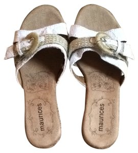 Maurices Tan/White Wedges