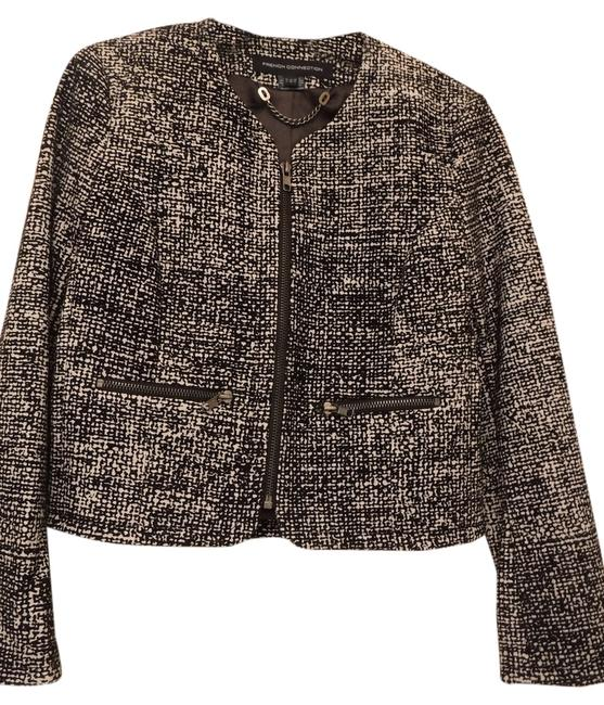 French Connection Wool Black and White Jacket