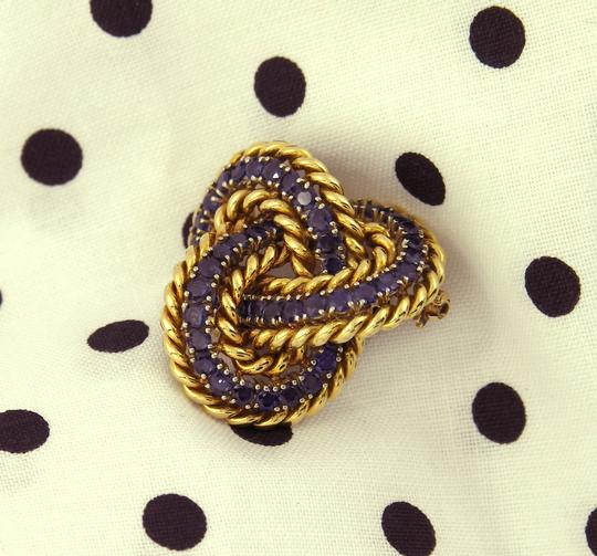 Tiffany & Co. Tiffany & Co. Sapphire Gold Knot Brooch